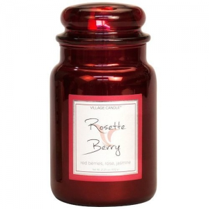 Village Candle Rosette Berry